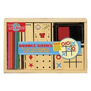 T.S. Shure Doodle Games Wooden Stamp Set