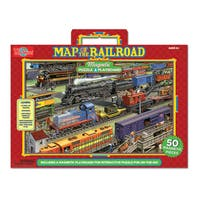 T.S. Shure Railroad Magnetic Playboard and Puzzle