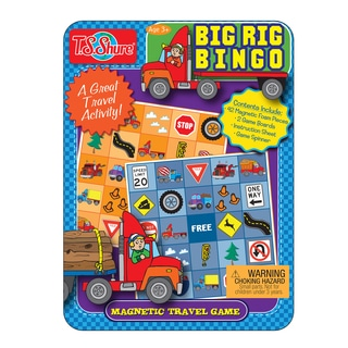 T.S. Shure Big Rig Bingo Magnetic Game Mini Tin