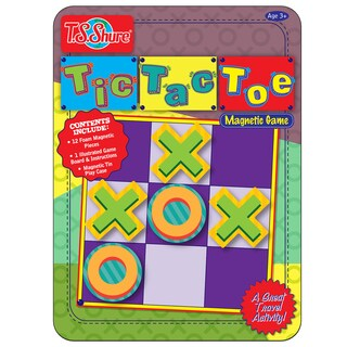 T.S. Shure Tic Tac Toe Deluxe Magnetic Game Tin
