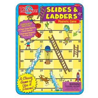 T.S. Shure Slides and Ladders Game Mini Tin