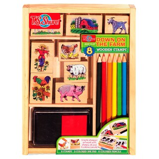 T.S. Shure Down on the Farm Wooden Stamp Set