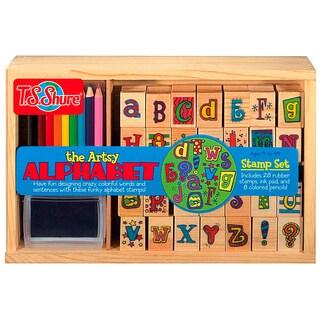 T.S. Shure Artsy Alphabet Wooden Stamp Set