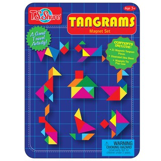 T.S. Shure Tangrams Deluxe Magnetic Game Tin