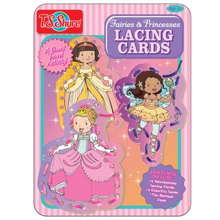 T.S. Shure Fairies and Princesses Lacing Cards Tin