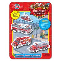 T.S. Shure Emergency Vehicles Magnetic Tin Playset