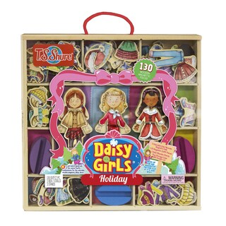 Daisy Girls Holiday Deluxe Set of 3 Dress-Up Dolls