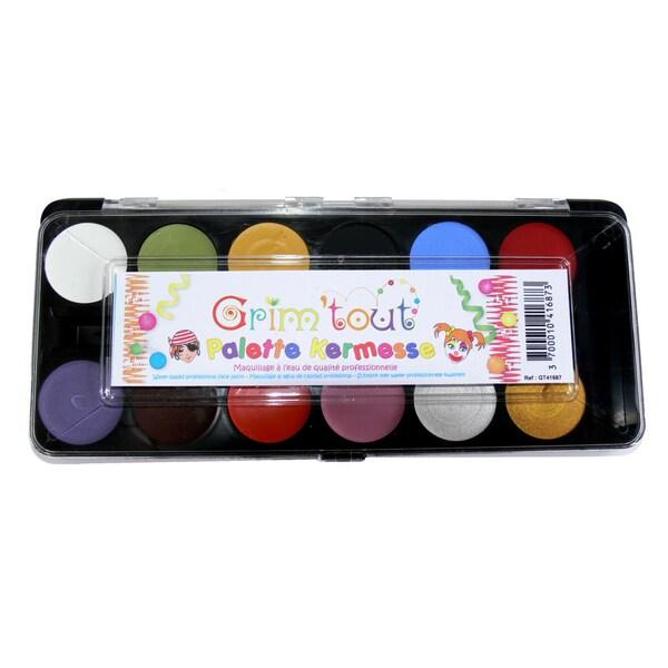 Grim 'tout 12 Primary Color Face Paints