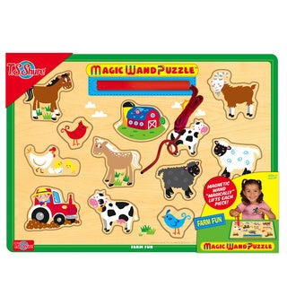 T.S. Shure Farm Fun Wooden Magnetic Magic Wand Puzzle