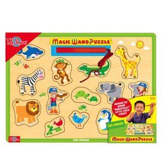 Zoo Friends Wooden Magnetic Magic Wand Puzzle