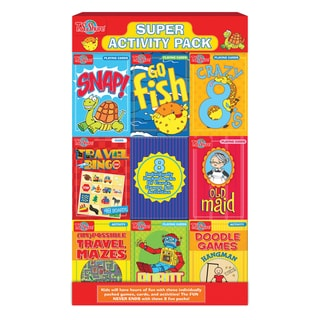 Super Activity 8 Pack Card and Travel Games Set