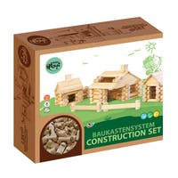 VARIS Wood Log Construction 111 Piece Set