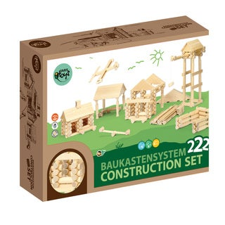 VARIS Wood Log Construction 222 Piece Set