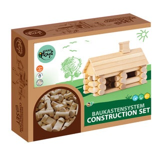 VARIS Traditional Wood Log 35 Piece Little House