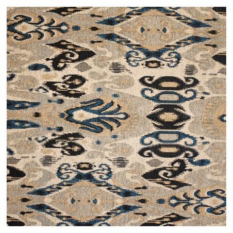Herat Oriental Indo Hand-tufted Chenille Flatweave Ikat Rug (5' x 5') - 5' x 5'