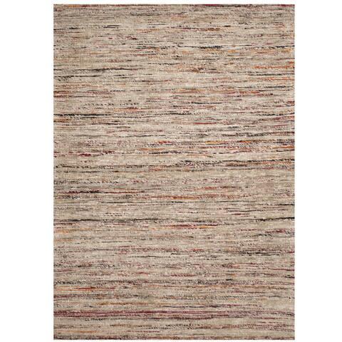 """Handmade One-of-a-Kind Chenille Flatweave Rug (India) - 4' x 5'6"""""""