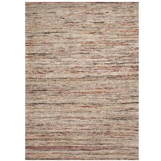 Handmade Herat Oriental Indo Chenille Flatweave Contemporary Rug (India) - 4' x 5'6