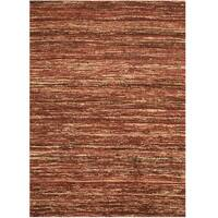 Herat Oriental Indo Hand-tufted Chenille Flatweave Contemporary Rug - 4' x 5'6