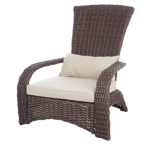 Patio Sense Deluxe Coconino Beige/Brown Wicker Chair