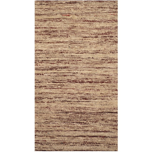 "Handmade Chenille Flatweave Rug (India) - 2'8"" x 4'"