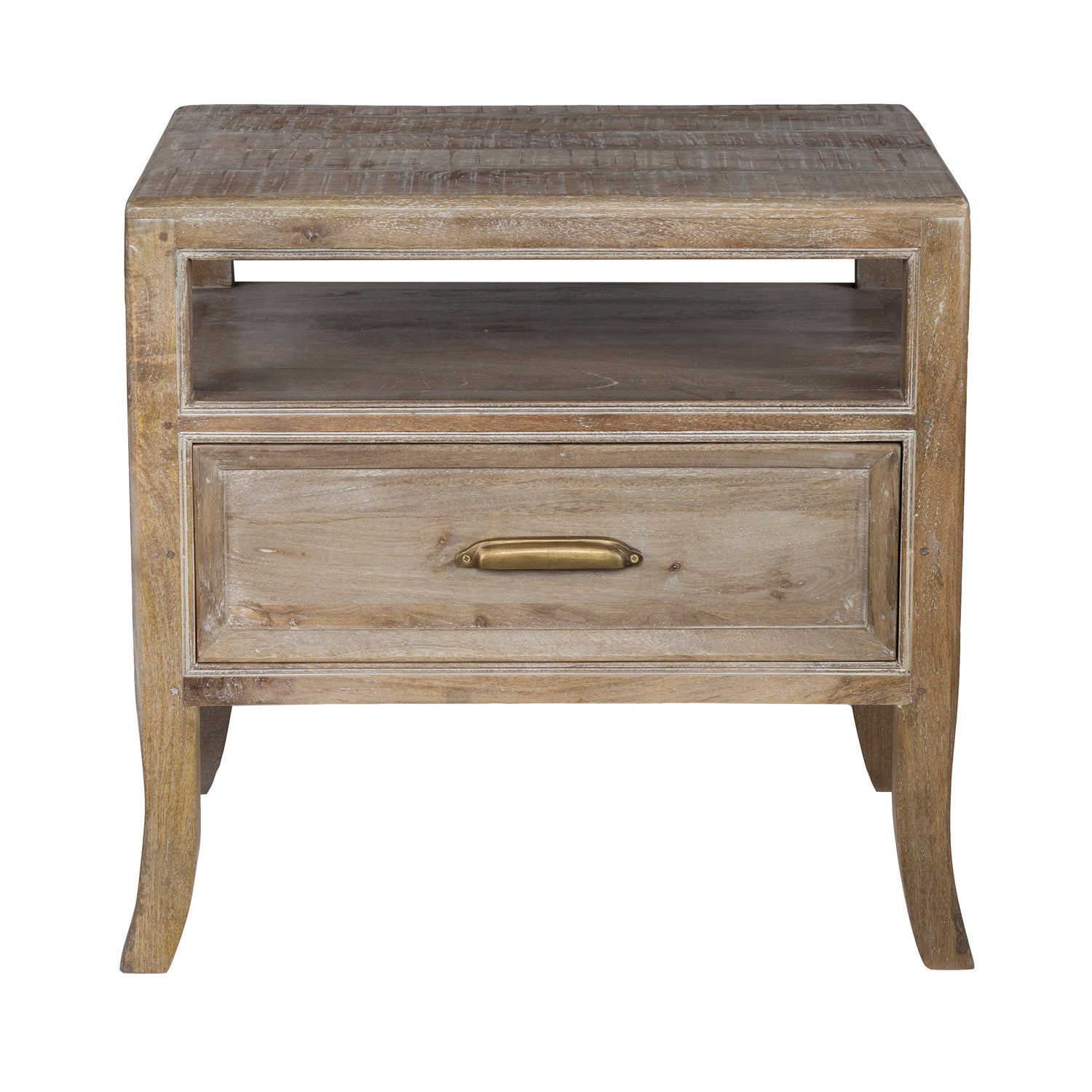 Emily Hand Crafted Solid Wood 1 Drawer Nightstand By Kosas Home