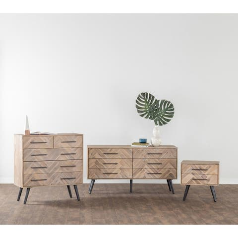 Clyde Mid-century Solid Wood 6-drawer Dresser by Kosas Home