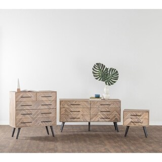 Clyde Mid-Century Solid Wood 6 Drawer Dresser by Kosas Home
