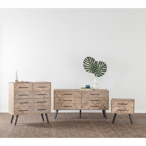 Clyde Mid-Century Solid Wood 5 Drawer Dresser by Kosas Home