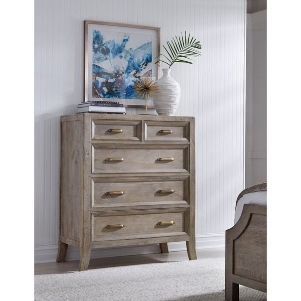 Shop Emily Hand Crafted Solid Wood 5 Drawer Dresser By