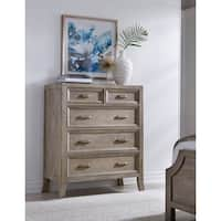 Emily Hand Crafted Solid Wood 5 Drawer Dresser by Kosas Home