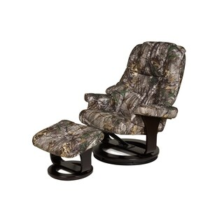 Relaxzen 60-0790CF 8 Motor Massage Recliner with Heat and Ottoman, Camouflauge