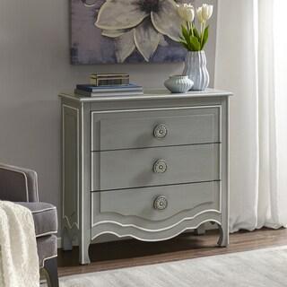 Madison Park Skyline Castro Grey/ White Wood 3-drawer Dresser