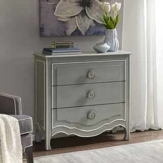 Madison Park Skyline Castro Grey/ White Wood 3-drawer Chest