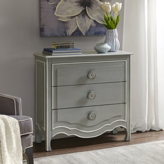 Madison Park Skyline Castro Grey/ White Wood 3 Drawer Chest