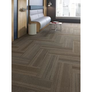 "Mohawk Milford 12"" x 36"" Carpet tile plank in SPIN