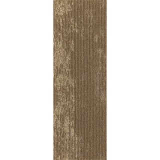 """Mohawk Webster 12"""" x 36"""" Carpet tile plank in CANYON CLAY METALLIC"""