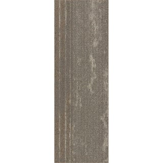 "Mohawk Webster 12"" x 36"" Carpet tile plank in PERFECT PATHS METALLIC"