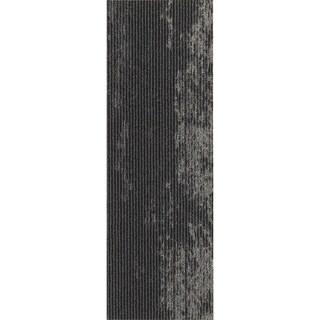 "Mohawk Webster 12"" x 36"" Carpet tile plank in DARING DRIFT METALLIC"