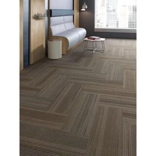 "Mohawk Milford 12"" x 36"" Carpet tile plank in LINK"