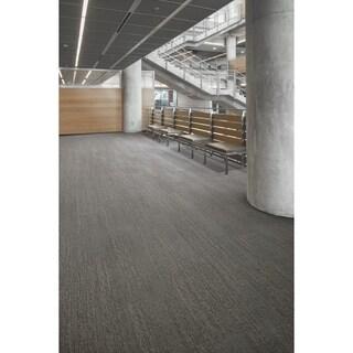 """Mohawk Brunswick 12"""" x 36"""" Carpet tile plank in CLEAN SLATE"""
