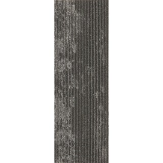 "Mohawk Webster 12"" x 36"" Carpet tile plank in CLEAN SLATE METALLIC"