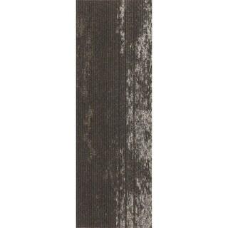 """Mohawk Webster 12"""" x 36"""" Carpet tile plank in WILD TERRAIN METALLIC"""
