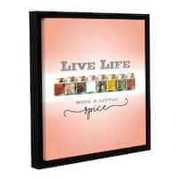 Scott Medwetz 'Live Life With a Little Spice' Gallery-wrapped Floater-framed Canvas