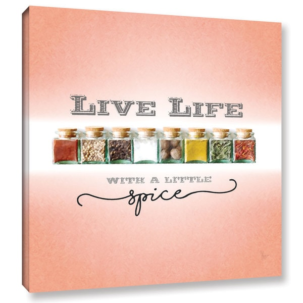 Scott Medwetz 'Live Life With a Little Spice' Gallery-wrapped Canvas