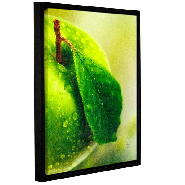 ArtWall Scott Medwetz 'Green Apple' Gallery-wrapped Floater-framed Canvas