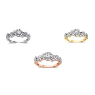 AMOUREUX 14k Gold 1/2 TDW Diamond Bridal Ring (I/J, I1-I2) - White I-J
