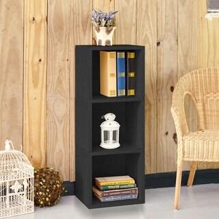 Wynwood Eco 3-Shelf Narrow Bookcase Storage, Black LIFETIME GUARANTEE