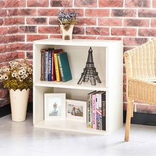 Webster Eco 2-Shelf Bookcase and Storage, White LIFETIME GUARANTEE