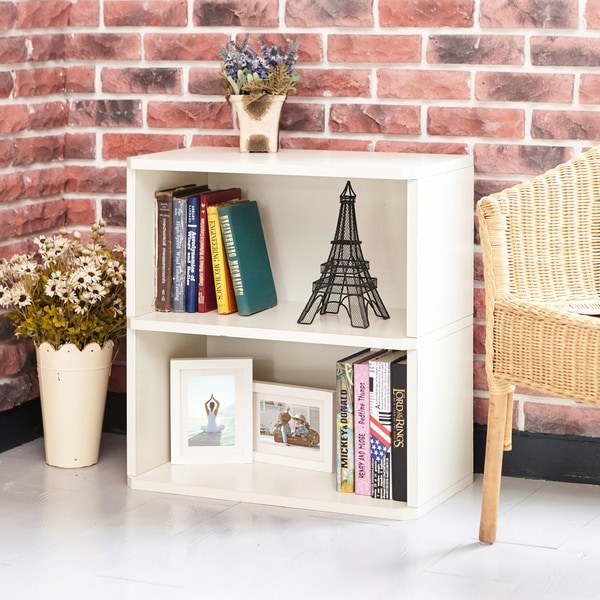 Webster Eco 2 Shelf Bookcase And Storage White LIFETIME GUARANTEE
