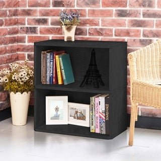 Webster Eco 2-Shelf Bookcase and Storage, Black LIFETIME GUARANTEE